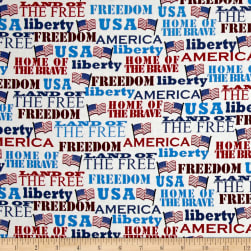 Kaufman Patriots Words Americana Fabric