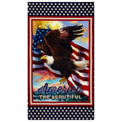 Kaufman Patriots Eagle Digital 23.5'' Panel Americana Fabric