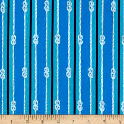 Kaufman Seaside Treasures Stripe Blue