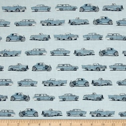 Kaufman Old Guys Rule Cars Denim Fabric