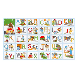 Kaufman My ABC Book 24'' Panel Vintage Fabric