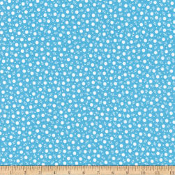 Kaufman My ABC Book Dots Blue Fabric