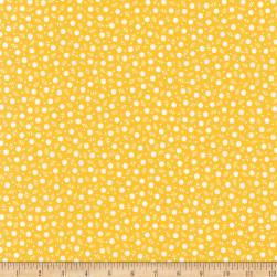 Kaufman My ABC Book Dots Yellow Fabric