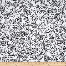 Kaufman Blueberry Park Flower Black Fabric