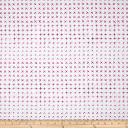 Kaufman Blueberry Park Crosses Strawberry Fabric
