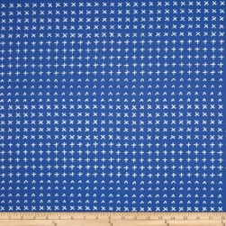 Kaufman Blueberry Park Crosses Hyacinth Fabric