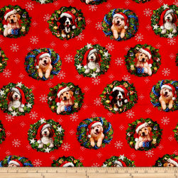 Kaufman Christmas Pets Dogs Digital Holiday