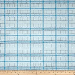 Kaufman Friedlander Box Stripe Sky Fabric