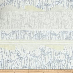 Kaufman Friedlander Border Stripe Sky Fabric