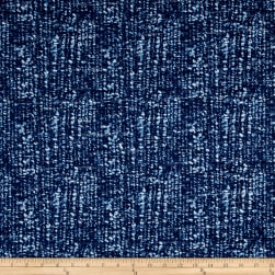 Kaufman Cotton Boucle Prints Mottle Indigo Fabric
