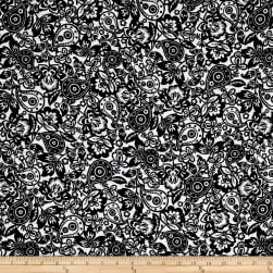 Kaufman Cotton Boucle Prints Paisley Black Fabric