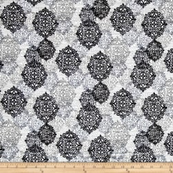 Kaufman Cotton Boucle Prints Medallion Grey Fabric