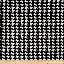 Kaufman Cotton Boucle Prints Houndstooth Black Fabric