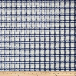 Kaufman Cotton Boucle Prints Plaid Silver Fabric