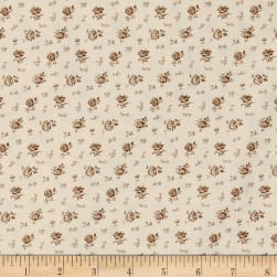 Kaufman Sevenberry Petite Garden Scattered Flowers Natural Fabric
