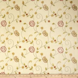 Fabricut Alamak Embroidered Shantung Beige Fabric