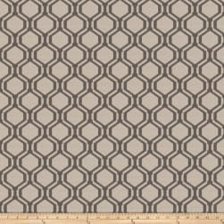 Fabricut Black Keys Jacquard Grey Fabric