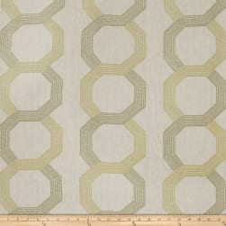Fabricut Corner Shop Embroidered Linen Blend Lime Fabric
