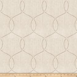 Fabricut Crucian Embroidered Linen Blend Ivory Fabric