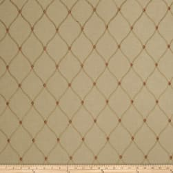 Fabricut De Jour Embroidered Faux Linen Hearth Fabric