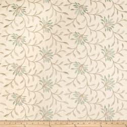Fabricut Elmley Embroidered Linen Blend Lagoon Fabric