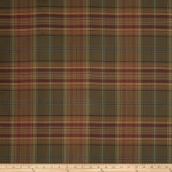 Fabricut Equus Gabardine Plaid Mulberry Fabric