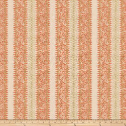 Charlotte Moss Frascati Linen Coral Fabric