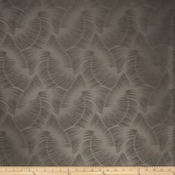 Fabricut Pele Fern Faux Silk Pewter Fabric