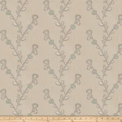 Fabricut Salana Embroidered Linen Spa Fabric