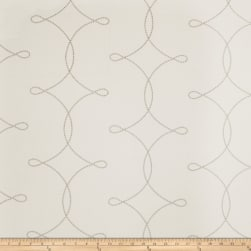 Fabricut Sheryl Embroidered Grey Fabric