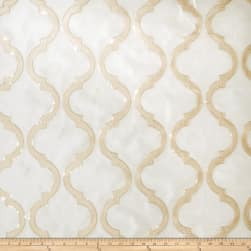 Fabricut Shimmering Lattice Organza Gold Dust Fabric