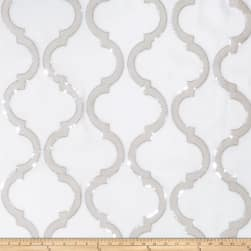Fabricut Shimmering Lattice Organza Silver Fog Fabric