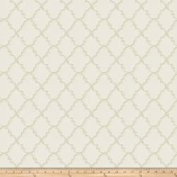 Fabricut Strahl Embroidered Faux Linen Cloud Fabric