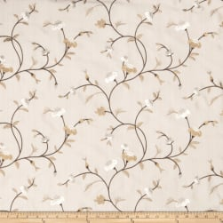 Fabricut Tablas Floral Faux Silk Latte Fabric