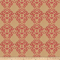 Isabelle De Borchgrave Tribal Diamond Jacquard Berry Fabric