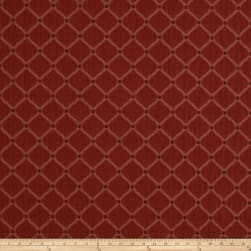 Jaclyn Smith 01844 Crinkled Jacquard Crimson Fabric