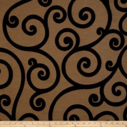Jaclyn Smith 01845 Chenille Jacquard Scroll Jet Fabric