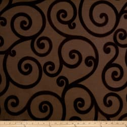 Jaclyn Smith 01845 Chenille Jacquad Scroll Pecan Fabric
