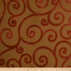 Jaclyn Smith 01845 Chenille Jacquard Scroll Tabasco Fabric