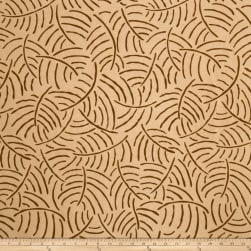 Jaclyn Smith 01853 Flocked Faux Dupioni Golden Fabric