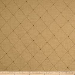 Jaclyn Smith 01854 Beaded Pintuck Caramel Fabric