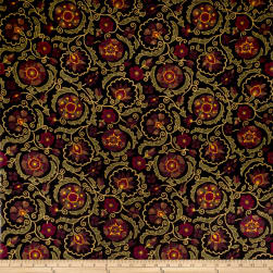 Jaclyn Smith 02097 Linen Blend Berry Fabric