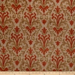 Jaclyn Smith 02098 Linen Blend Terra Cotta Fabric