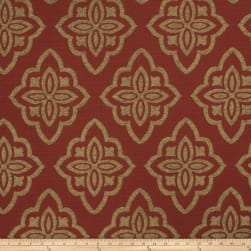 Jaclyn Smith 02601 Chenille Jacquard Scarlet Fabric
