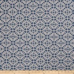 Jaclyn Smith 02602 Jacquard Indigo Fabric