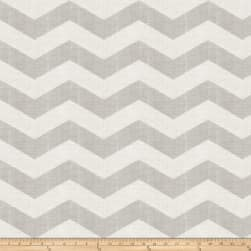 Jaclyn Smith 02603 Linen Chevron Dove Gray Fabric