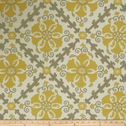 Jaclyn Smith 02605 Jacquard Lemon Zest Fabric