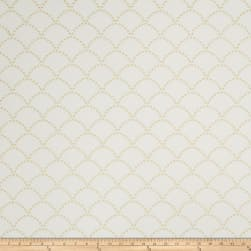 Jaclyn Smith 02607 Embroidered Linen Lemon Zest Fabric