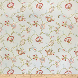 Jaclyn Smith 02609 Embroidered Duck Blush Fabric