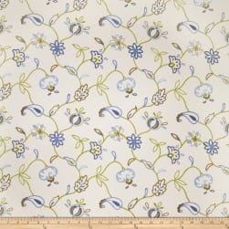 Jaclyn Smith 02609 Embroidered Duck Indigo Fabric